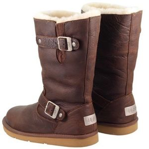 UGG Brown Leather Boots w/ Side Buckles - 7 (38)